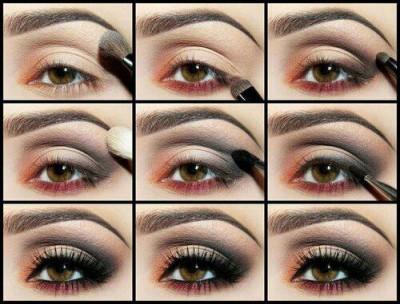 آرایش مرحله به مرحله چشم ها