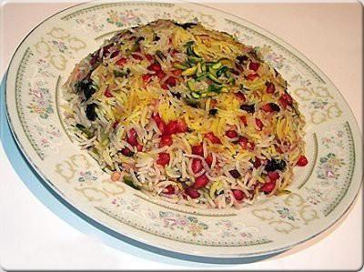 انار پلو، غذای مخصوص شب یلدا