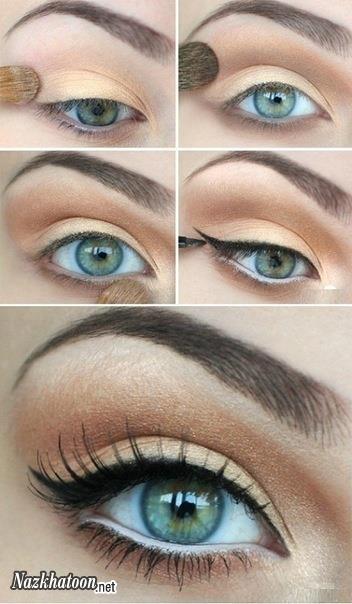 آرایش چشم ها در چند ثانیه