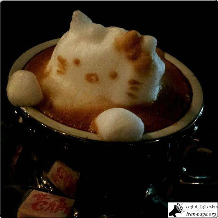 هنرنمایی با کف قهوه