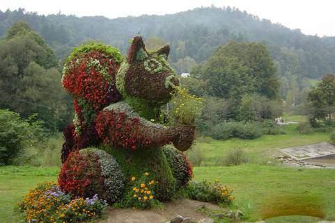 خلاقیت در باغ گلها