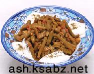 خوراک لوبیا با روغن زیتون