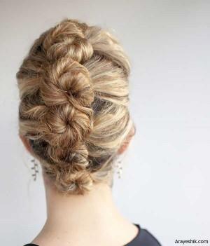 آموزش مدل موی زیبای پیچ لوله ای فرانسوی