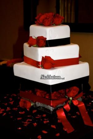کیک عقد قرمز و سفید – 3