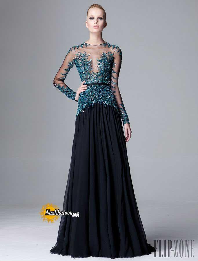 خرید لباس عروس آستین دار
