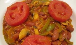 طرز تهیه خوراک لوبیا چیتی با سویا