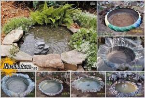 دیزاین حیاط با لاستیک کهنه