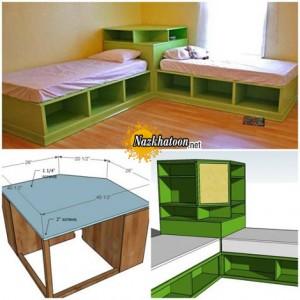 ساخت تخت خواب جا دار دونفره