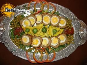تهیه رول گوشت و تخم مرغ