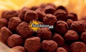 تهیه ترافلهای شکلاتی با هسته آلو