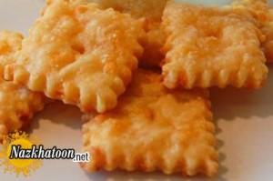 تهیه کراکر پنیر چدار