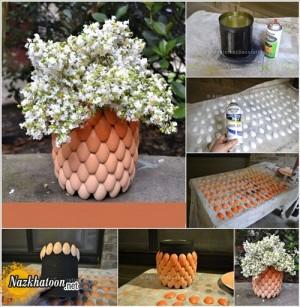 ساخت گلدان زیبا با قاشق پلاستیکی