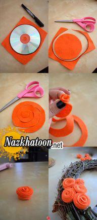 درست کردن حلقه چوبی تزئینی