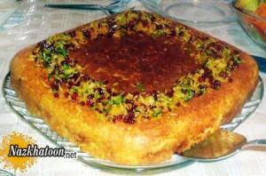 دستور پخت ته چین لوبیاسبز