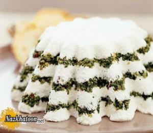 کیک ماست با سبزیجات معطر رژیمی