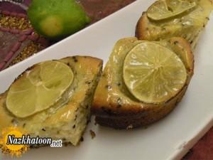 تهیه کیک لیمو با تخم خرفه