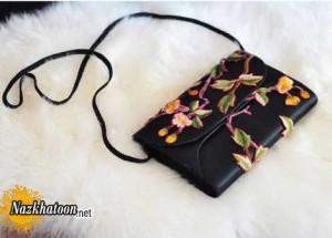 آموزش گلدار کردن کیف ساده