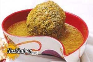تهیه کوفته سبزی شیرازی