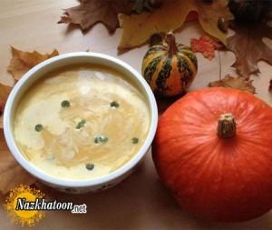 سوپ كدو حلوايى به سبک آلمانی