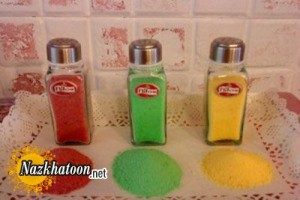 آموزش درست کردن نمک رنگی