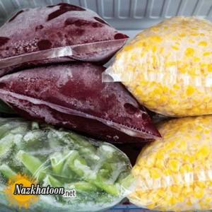روش منجمد کردن انواع سبزیجات