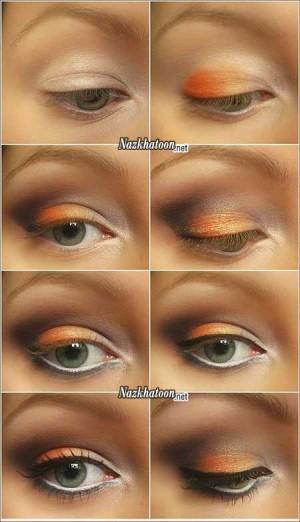 آموزش تصویری آرایش چشم مناسب فصل زمستان