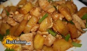 روش تهیه چیکن تریاکی و آناناس