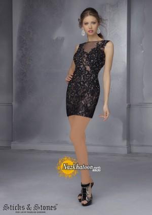 مدل لباس مجلسی کوتاه – 47