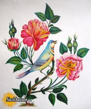 آشنایی با نقاشی گل و مرغ