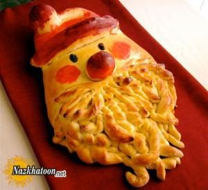 نان به شکل بابانوئل برای کریسمس