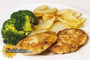 تهیه کوکو مرغ با لوبیا سفید
