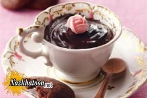 روش تهیه پودینگ خامه ای شکلاتی
