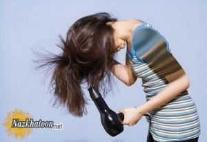 عوارض سشوار برای مو و مغز