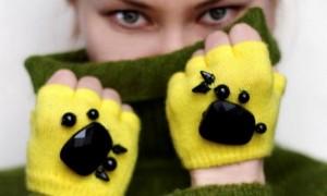 درست کردن دستکش بافتنی دخترانه