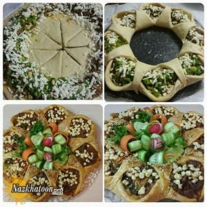 تهیه فطایر گوشت غذای محبوب لبنانی