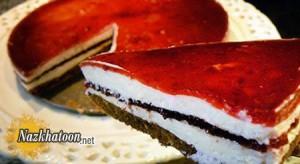 تهیه چیز کیک آلبالویی