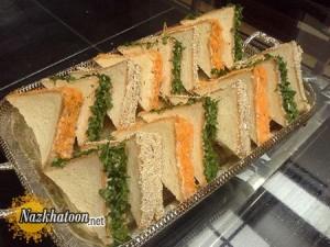 روش تهیه مینی ساندویچ مرغ