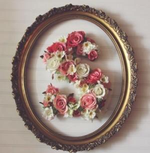 ساخت قالب گل با طرح اسم