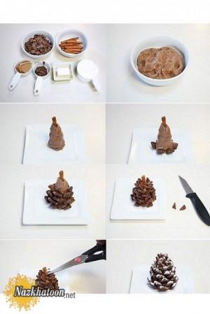 آموزش درست کردن کاج شکلاتی
