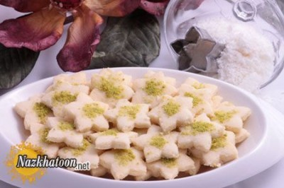 تهیه شیرینی نارگیلی با آرد برای ایام عید