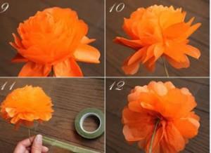 روش درست کردن گل با کاغذ روغنی