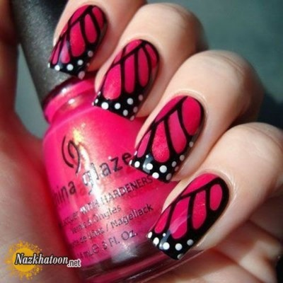 Pink-Butterfly-Nail-Designs