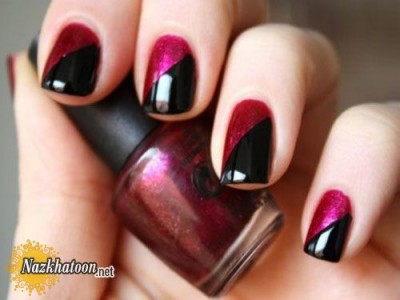 Two-color-nail-polish-design