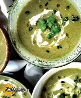 روش تهیه سوپ باقالا با خامه