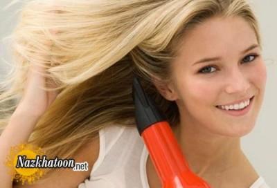 بهترين راه خشک کردن موی سر