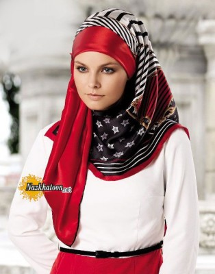 5-red-and-black-color-Turkish-Hijab-Fashion