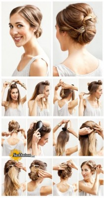 Easy-Wedding-Hairstyles-Tutorial-Chignon-Updo-for-Bridesmaids-541x1024