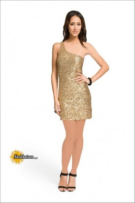 Gold-Sequin-Dress-for-Ladies
