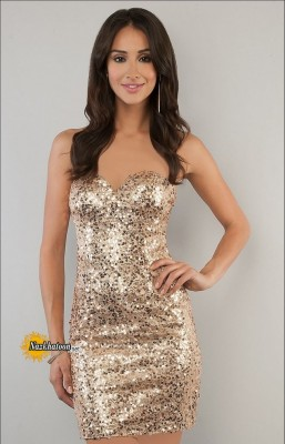 Gold-Sequin-Dress-for-Women