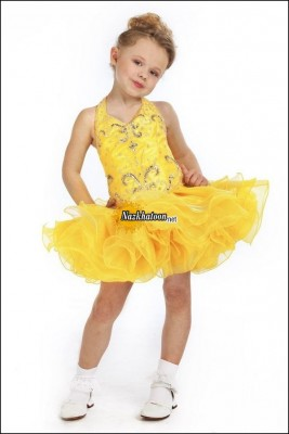 Kids-Dresses-2014-Yellow